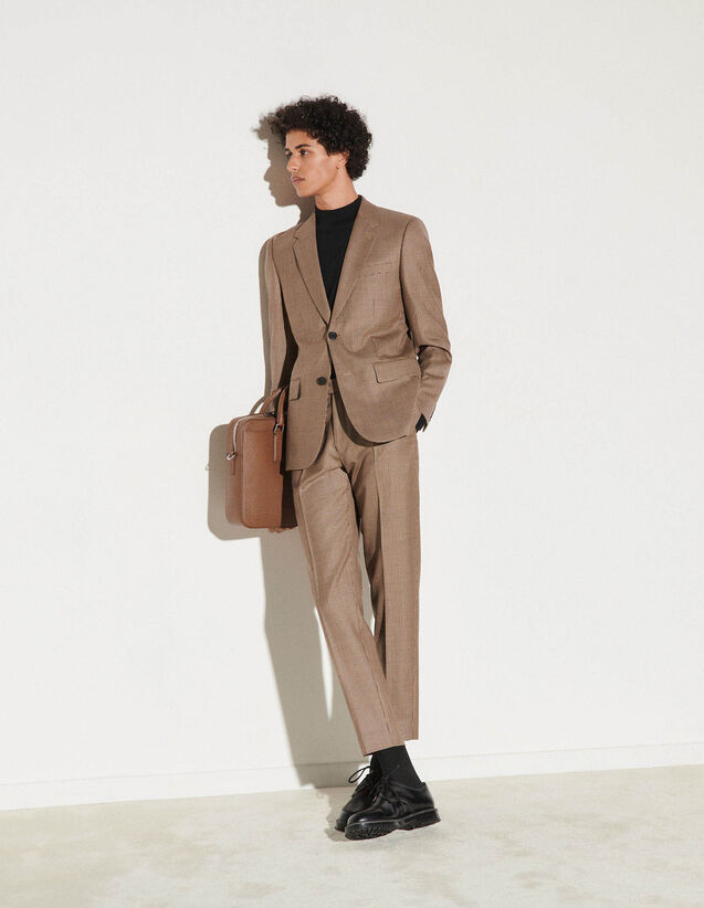Wool Suit Jacket : -30% color Beige