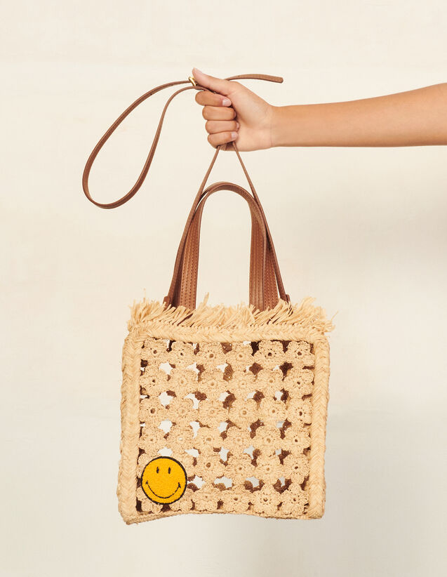 Smiley® Small Tote Bag : Others Bags color Ecru