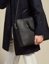 Saffiano Leather Briefcase : Leather Goods color Black