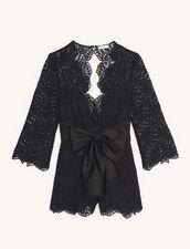 Lace Playsuit : Jumpsuits color Black