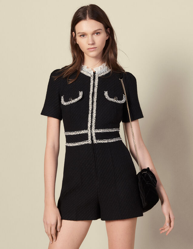 Tweed Playsuit : All Winter collection color Black