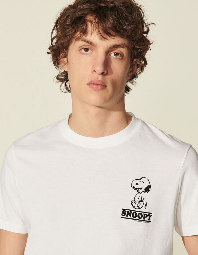 Organic Cotton Snoopy T-Shirt : T-shirts & Polo shirts color white