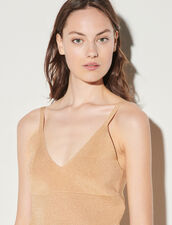 Knit Top With Straps : Tops color Gold
