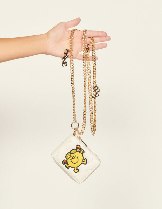 Women'S Purse With Chain : Small Leather goods color white