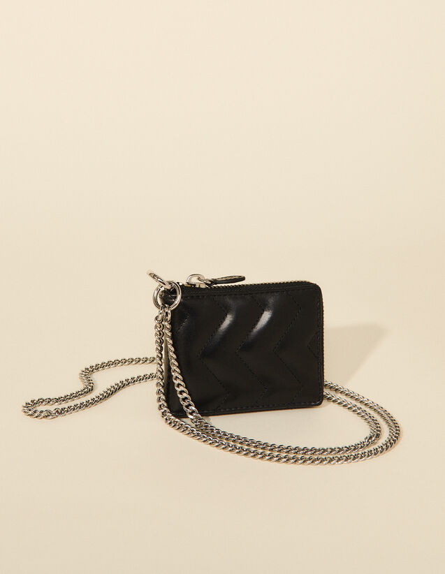 Leather Wallet : Small Leather goods color Black