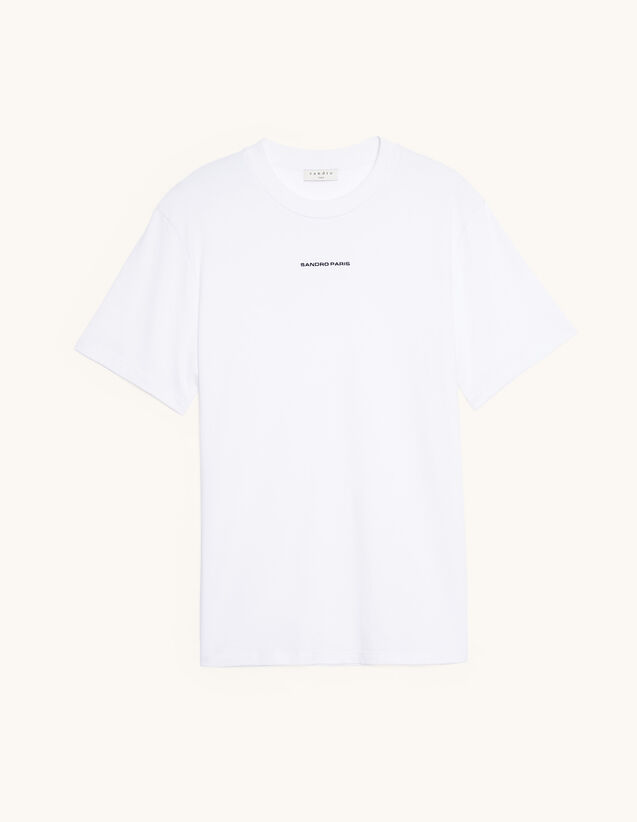 T-Shirt With Logo Embroidery : T-shirts & Polo shirts color white