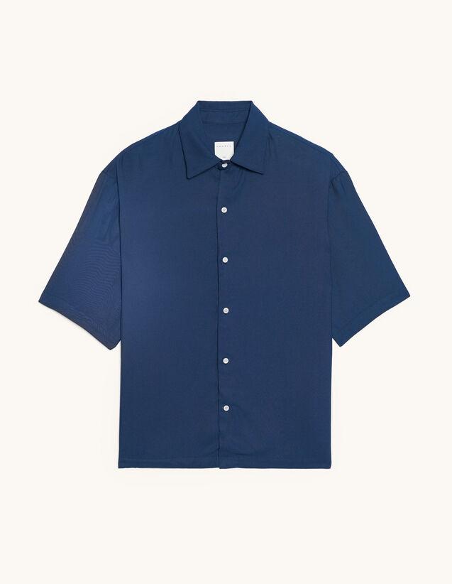 Plain Short-Sleeved Shirt : T-shirts & Polo shirts color Bordeaux