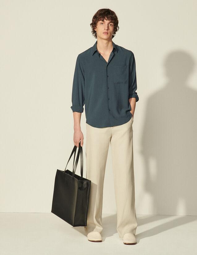 Plain Flowing Shirt : Shirts color Ecru