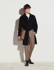 Double-Sided Wool Coat : Trench coats & Coats color Black