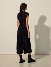 Jacquard Fabric Jumpsuit : Jumpsuits color Black