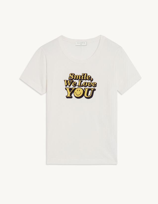 Printed T-Shirt In Organic Cotton : T-shirts color Ecru