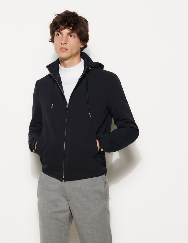 Technical Fabric Jacket : Trench coats & Coats color Navy Blue