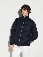 Wool Padded Jacket : Trench coats & Coats color Navy Blue