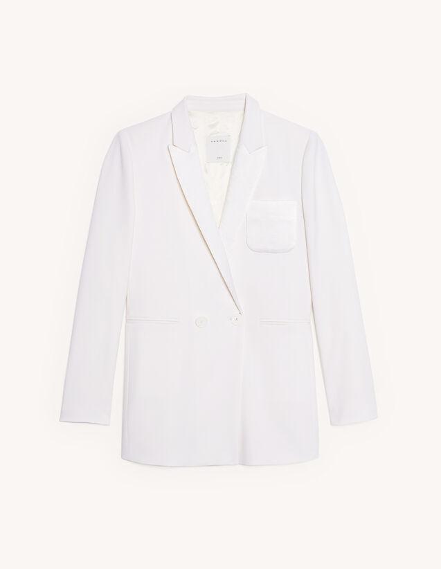 Linen Blend Tailored Jacket : Blazer & Jacket color Ecru