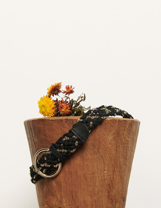 Woven Belt : Belts color Black