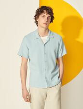 Short-Sleeved Shirt : Spring Summer Collection color Sky Blue