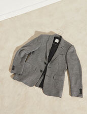 Houndstooth Suit Jacket : Trench coats & Coats color Black
