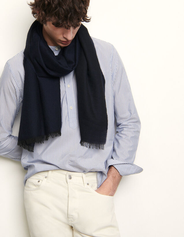 Two-Tone Reversible Scarf : Scarf color Navy Blue