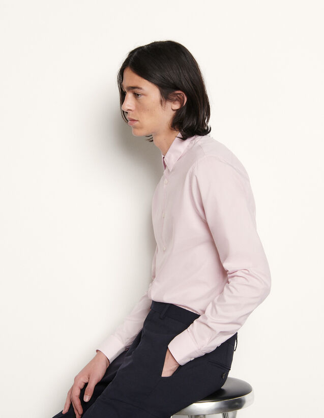 Plain Formal Shirt In Japanese Fabric : Shirts color Pink