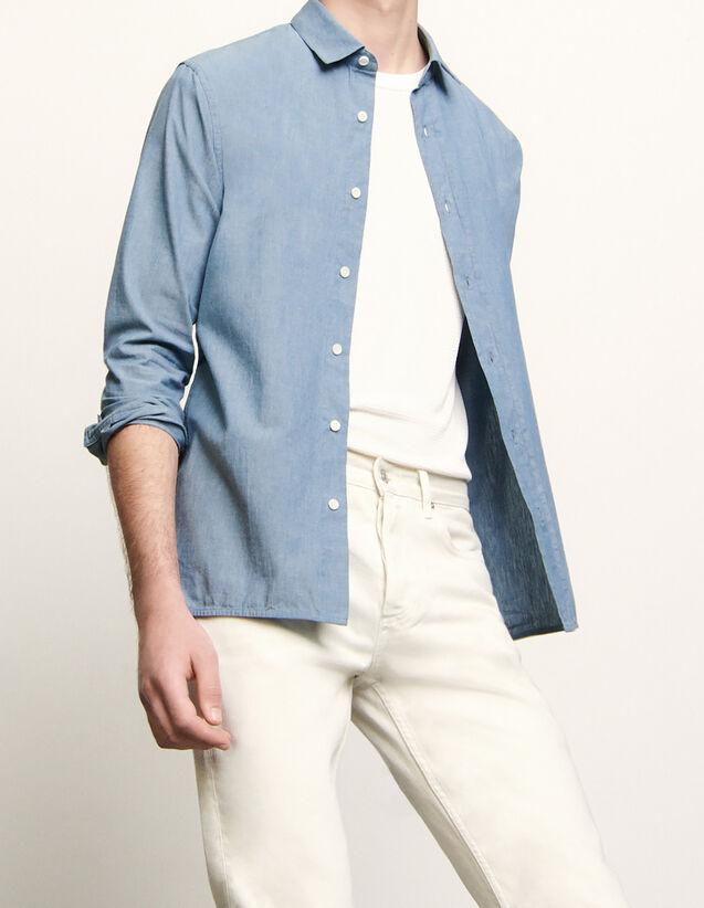 Chambray Shirt : Shirts color Blue