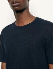 Linen T-Shirt : T-shirts & Polo shirts color white