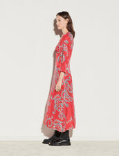 Printed Midi Dress : Dresses color Red