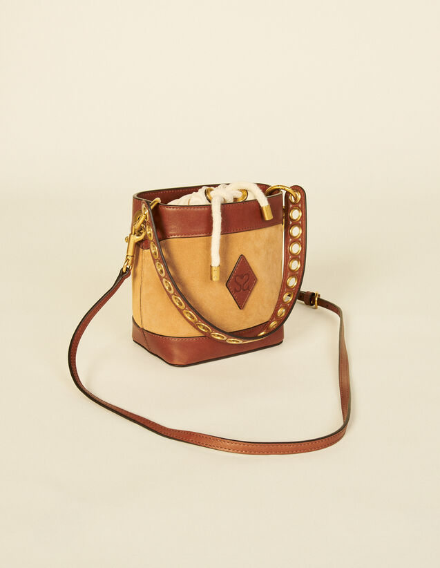 Leather Bucket Bag : My Adely Bag color Camel