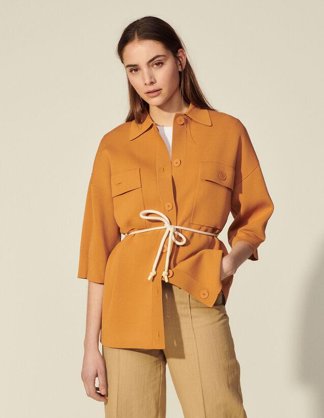 Oversized Overshirt-Style Coatigan : Coats color Ochre