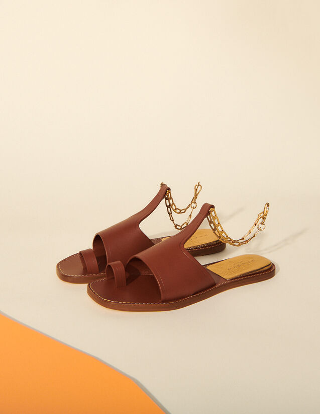 Sandals With Chain : Shoes color Camel