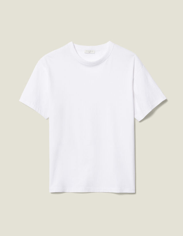 Cotton T-Shirt : Tops & T-shirts color white