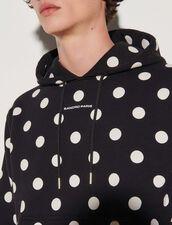 Polka Dot Hoodie : Sweatshirts color Black