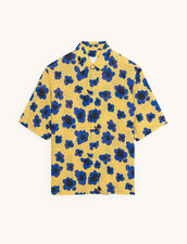 Short-Sleeved Printed Shirt : Shirts color Blue