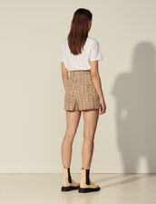 Tweed Shorts With Zip At The Front : Skirts & Shorts color Multicolore foncé