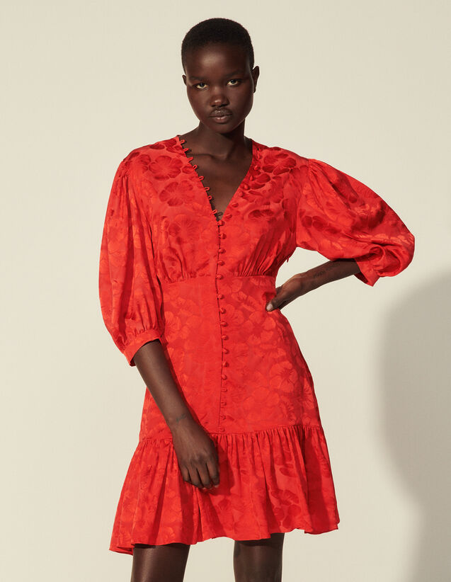 Short Flowing Dress : Dresses color Red