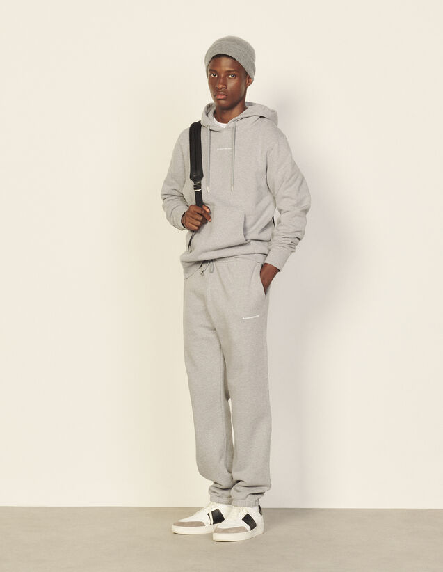 Joggers With Sandro Paris Embroidery : Pants & Shorts color Mocked Grey