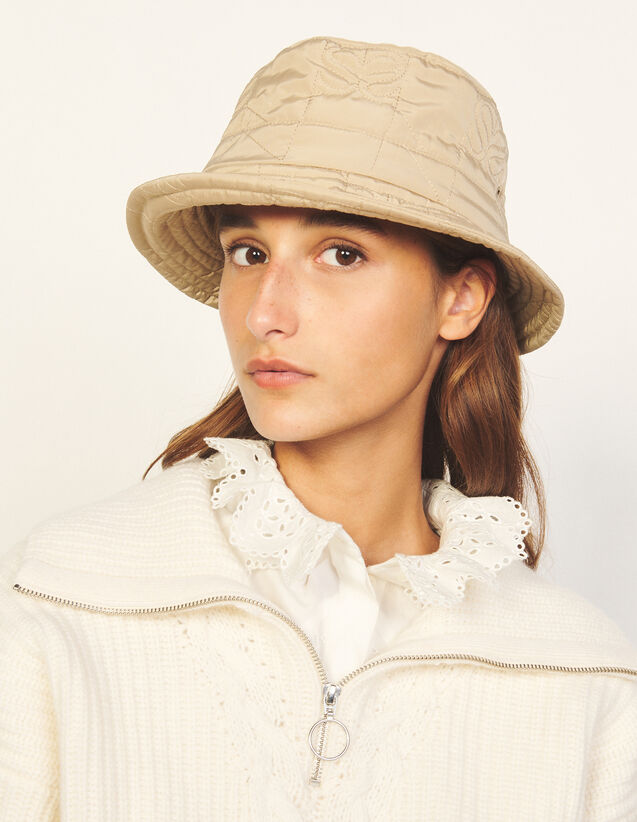 Quilted Bucket Hat : Other accessories color Beige