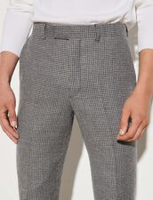 Houndstooth Suit Trousers : Pants & Shorts color Black