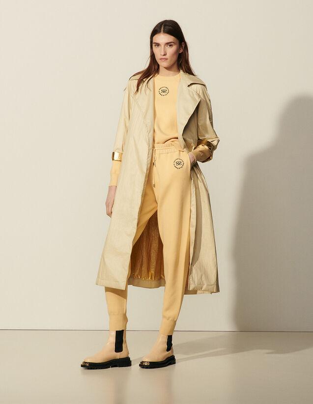 Flowing Trench Coat : Coats color Beige
