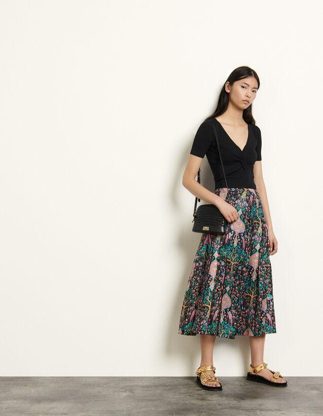 Long Printed Skirt : Skirts & Shorts color Black