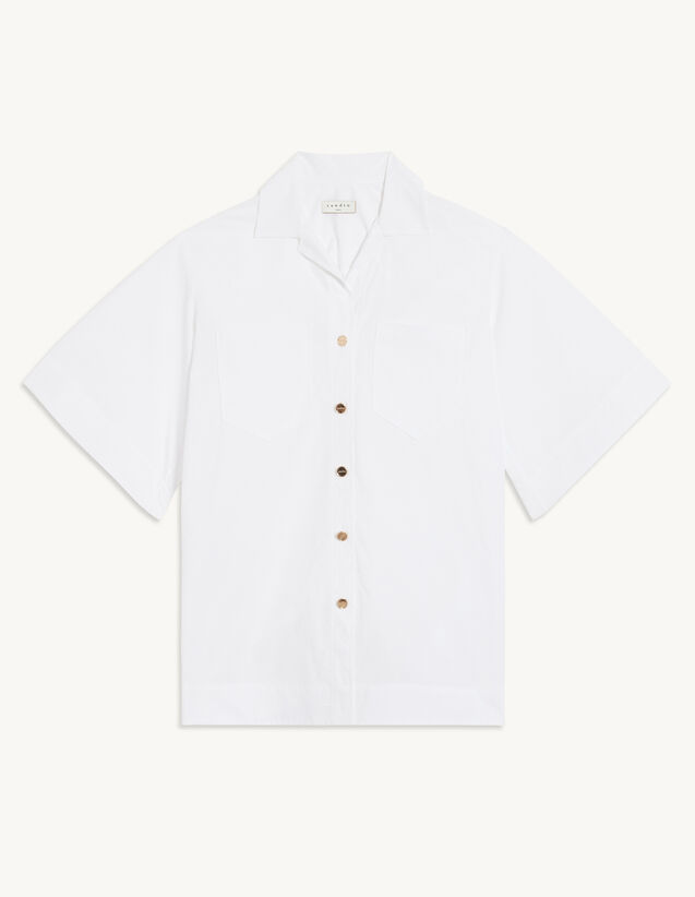 Oversized Organic Cotton Shirt : Shirts color white