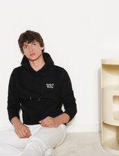 Embroidered Hoodie : Sweatshirts color Black