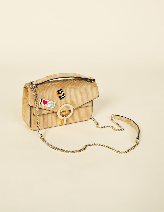 Velvet Yza Bag With Pin Badges : My Yza bag color Camel