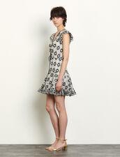Short Broderie Anglaise Dress : Dresses color Navy Blue