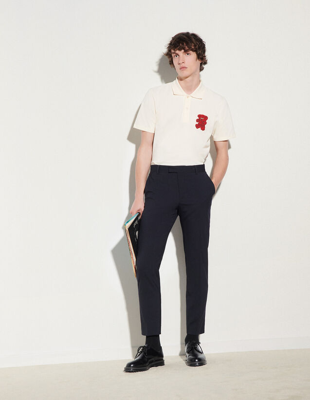 Wool Trousers : Pants & Shorts color Navy Blue