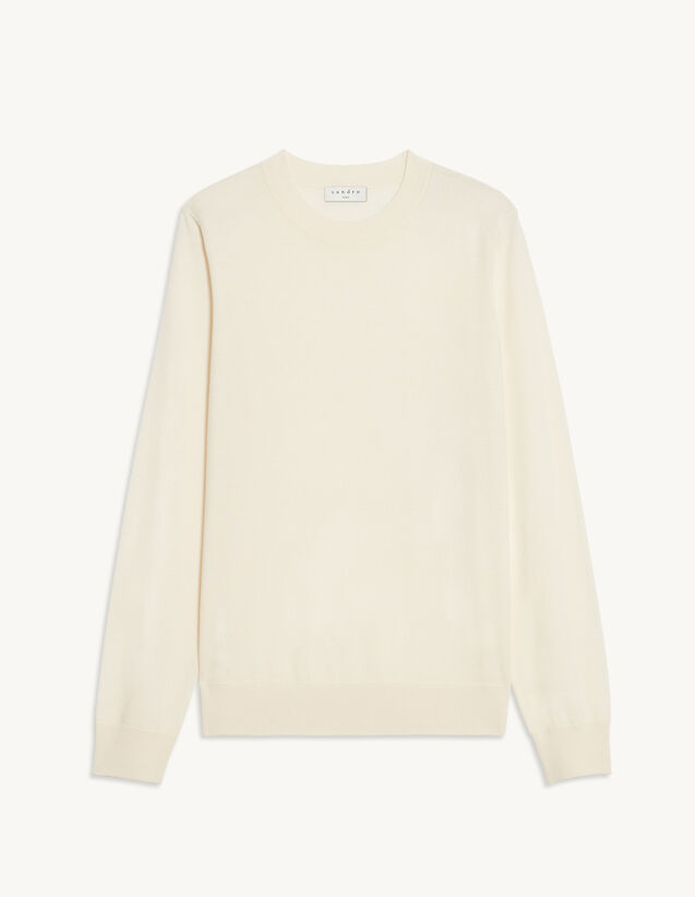 Wool Sweater : Sweaters & Cardigans color Ecru