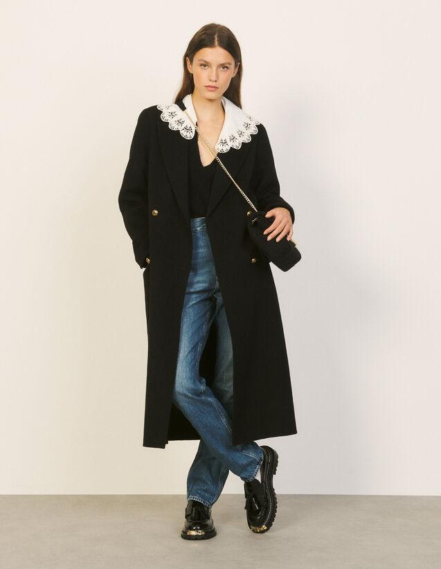 Long Wool Coat : Coats color Black