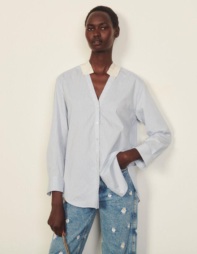 Striped Shirt : Shirts color White / Blue