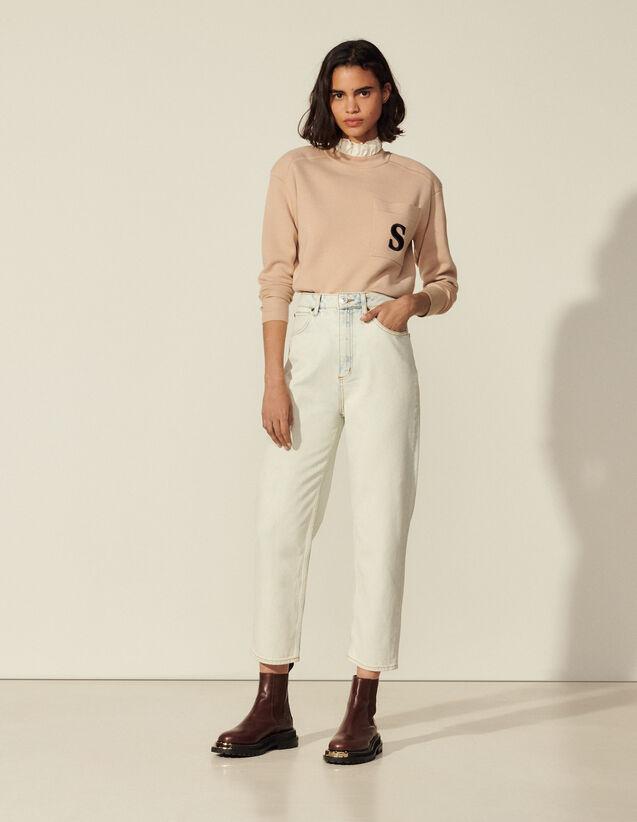 Snow Wash Jeans : Pants color Bleached - Denim