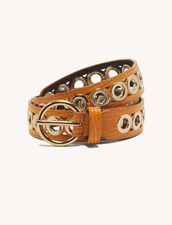 Belt With Eyelets : Belts color Bronze