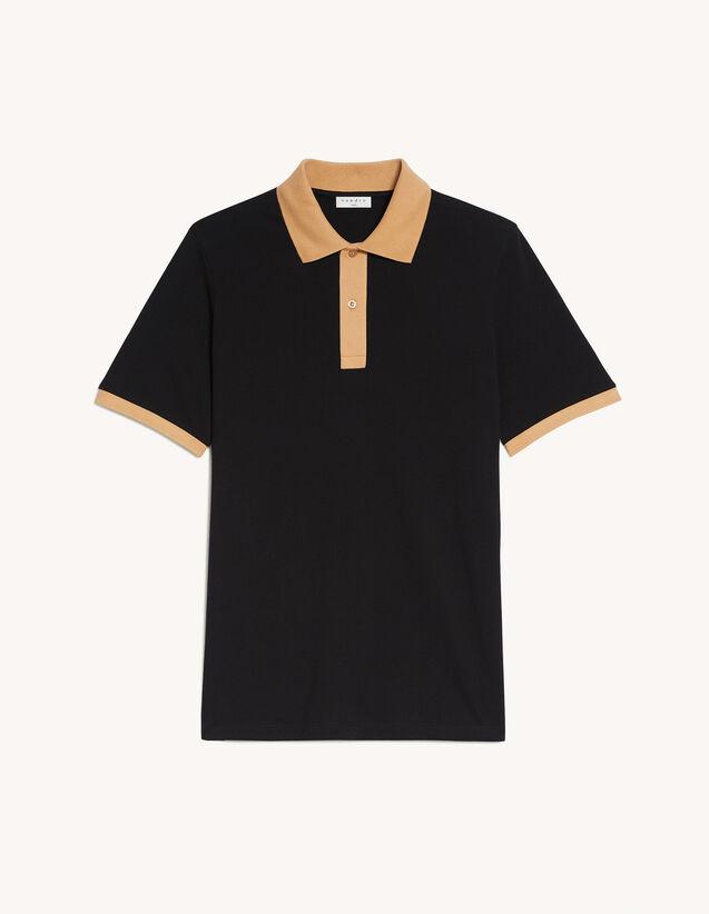 纯色刺绣T恤 : T-shirts & Polo shirts color Black